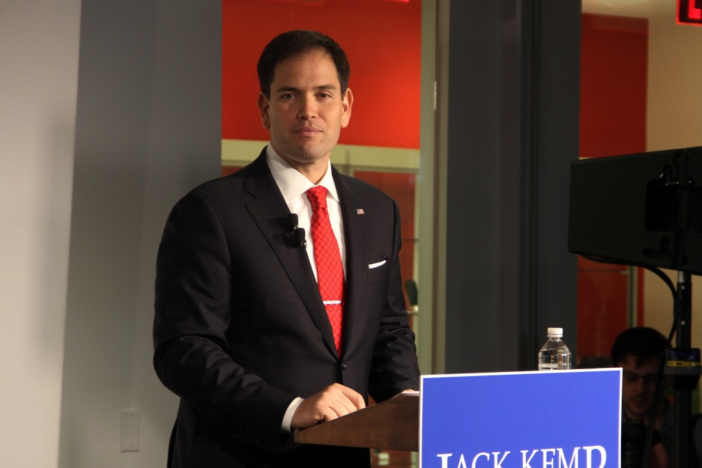 Marco Rubio, R-Fla., announced two new bills he is working on that would create new jobs in the U.S. He spoke Monday at Google's D.C. office.