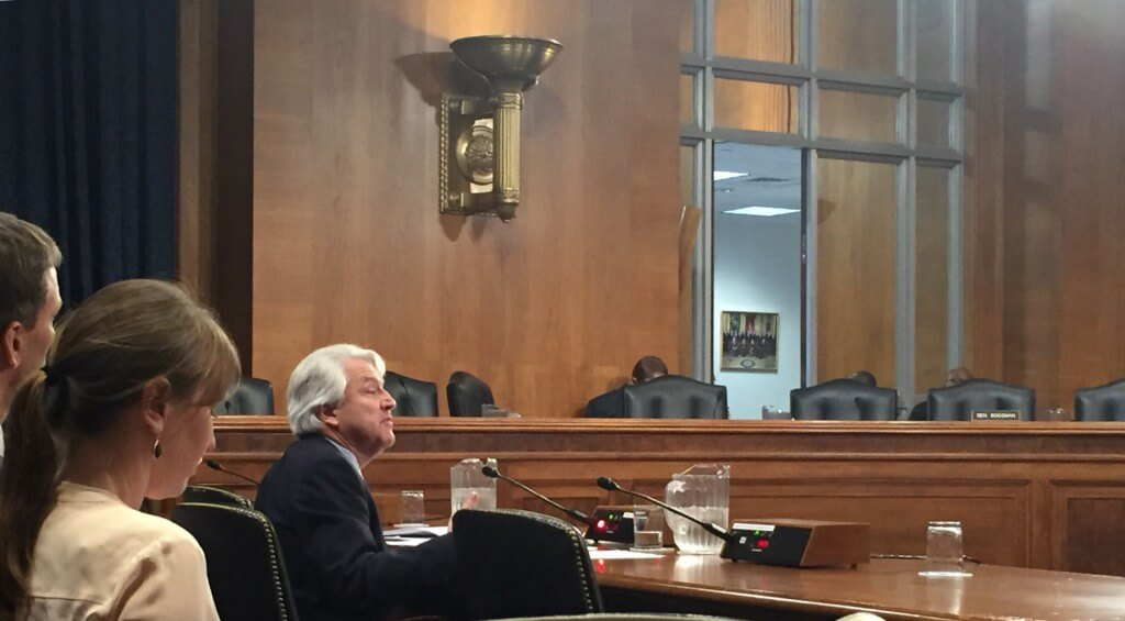 Joseph Pizarchik, director of the Office of Surface Mining Reclamation and Enforcement, testifies on coal mining regulations before the Senate environment committee.